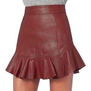 INTERMIX Marissa Webb Melinda Leather Mini Skirt